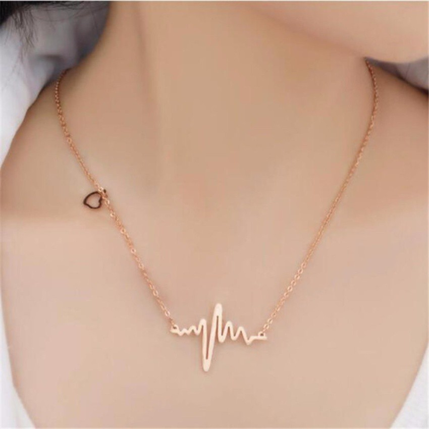 Lovely Chain for Girls Heart Beat waves Necklace Specially for gift of your loveone Necklace for women