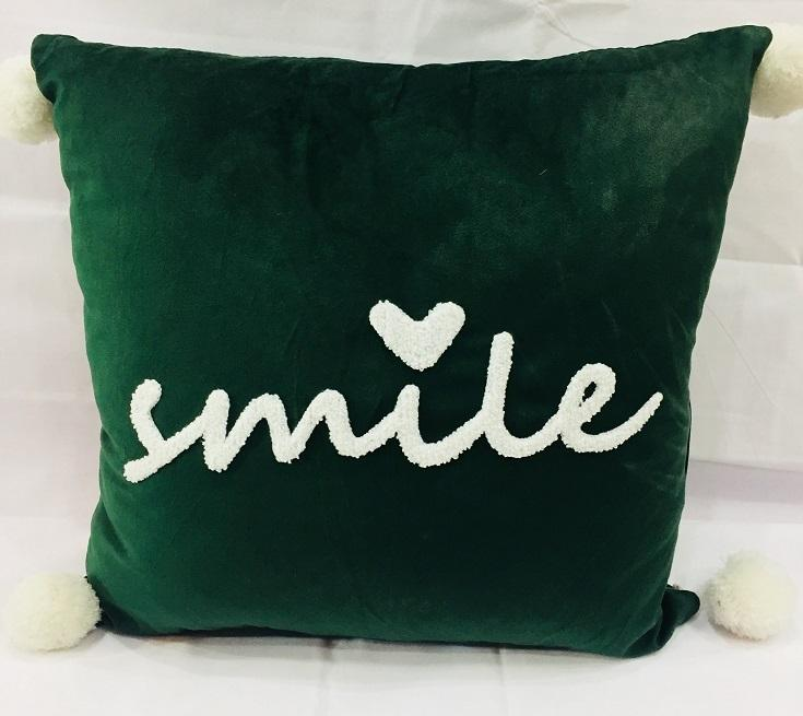 Home Decorative Cushion Covers Smile - 18 x 18 inches