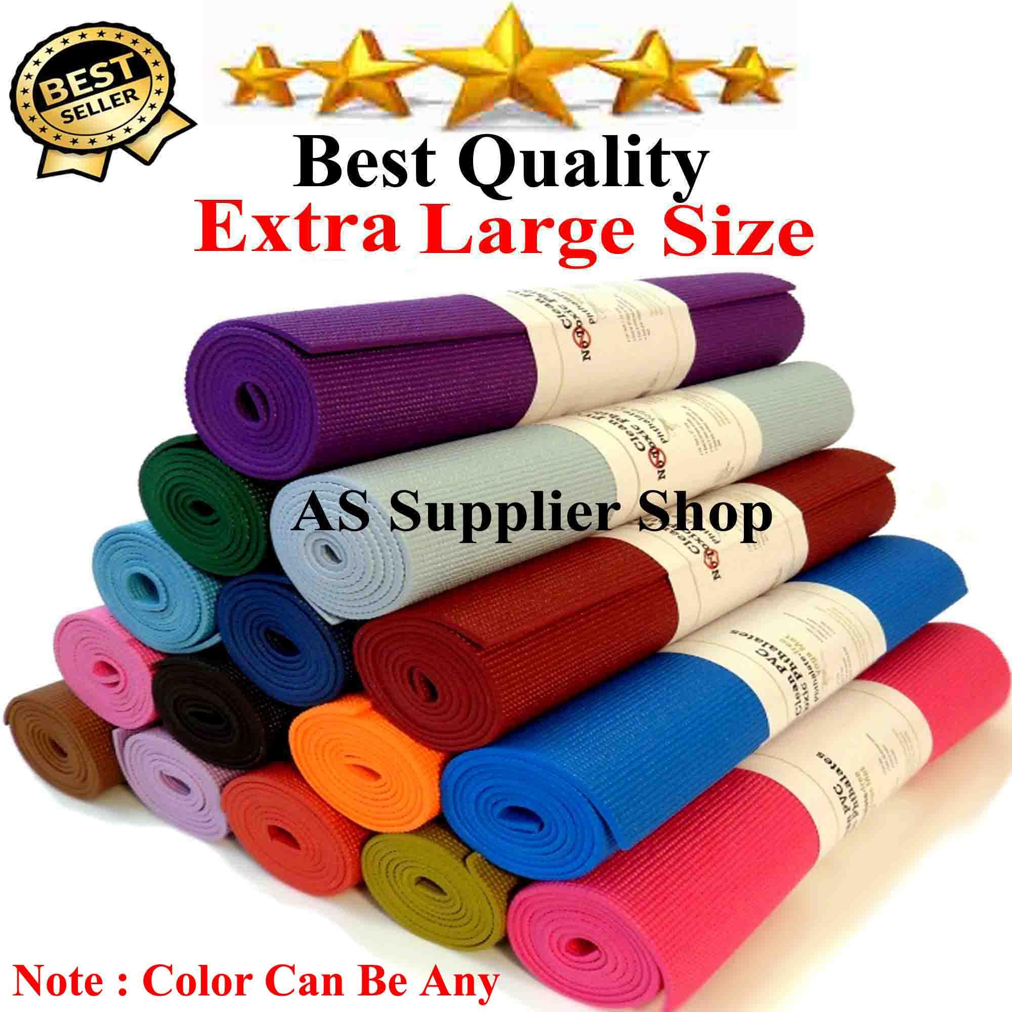 Imported Large Size PVC Anti Slip Sports Yoga Mat Fitness Training Mat Exercise Mat Gym Mat Exercise Mat Carpet Mat Yoga Mats