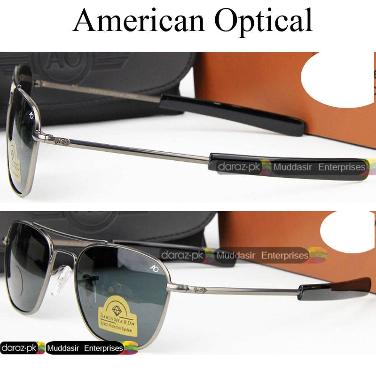 Imported High Quality Original AO American Optical Fashion Classical Aviation Sunglasses Men & Women AO Sun Glasses For Male American Army Military Optical Glass Lens