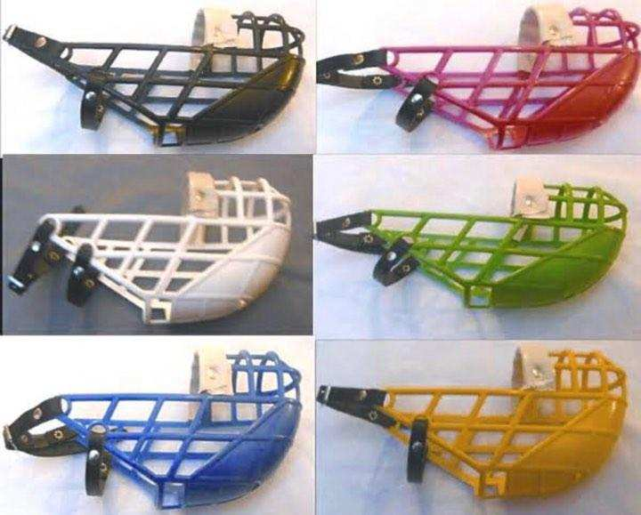 Plastic Muzzle For Dogs -Adjustable - Leather Strap