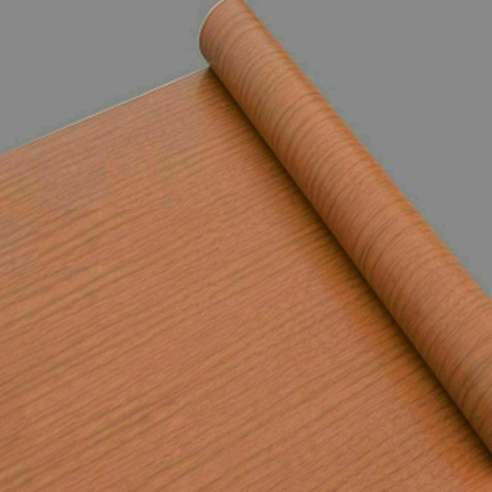 Self Adhesive Wood Grain Furniture Stickers Wallpaper Cabinets Gloss Film - 45x200 cm