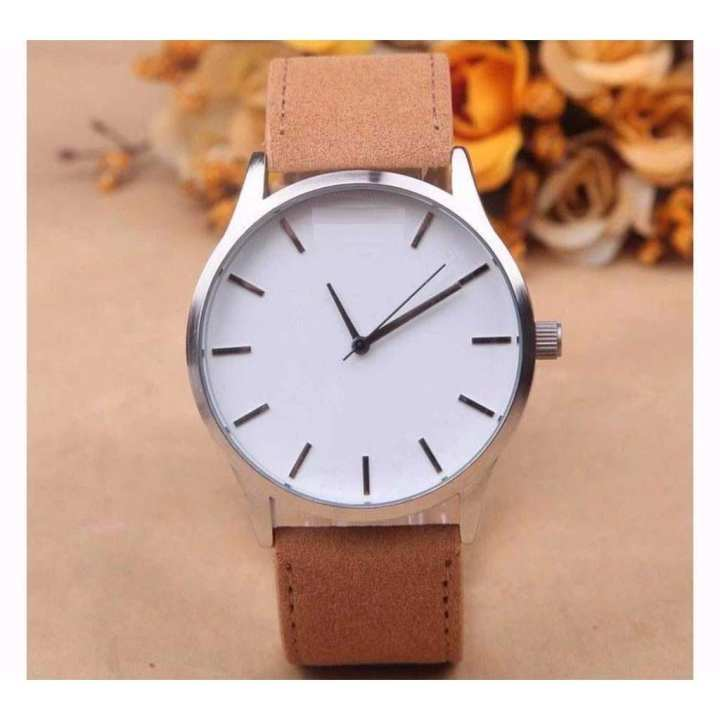 Brown Leather Strap Watch - Unisex