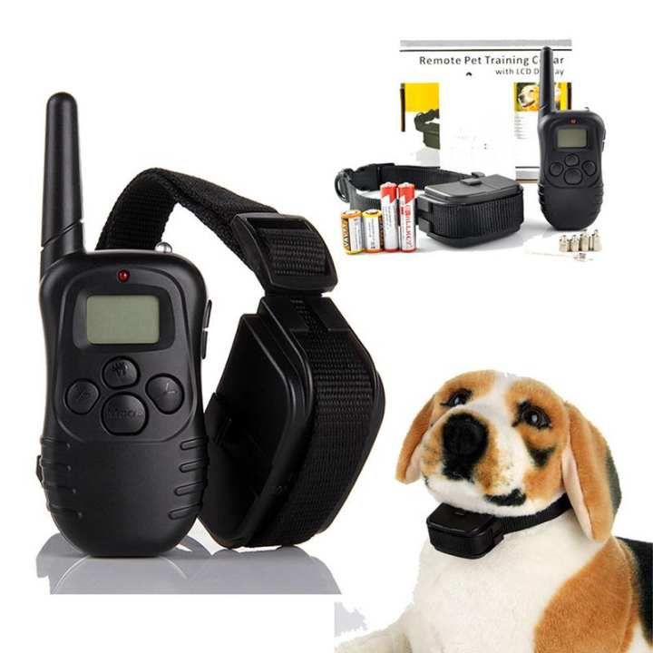 330M Dog Remote Training Collar with Beep, Vibration and Shock Electronic Collar - Black