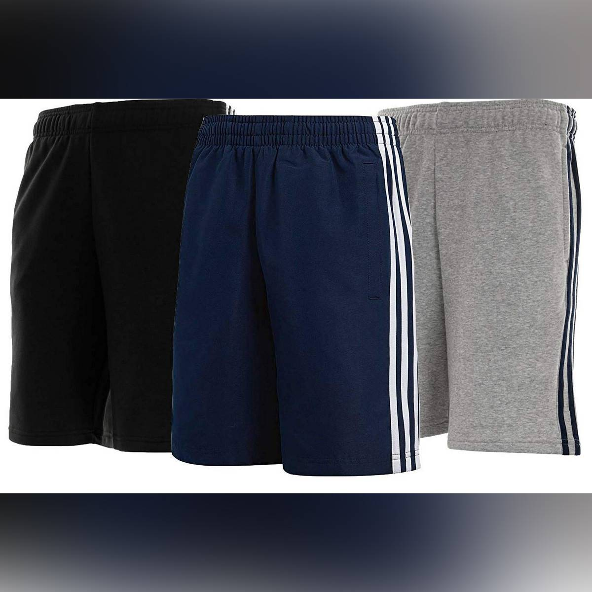 Cotton Fleece Stripes Shorts for Men