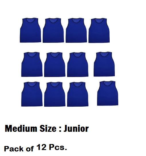 Football Bibs Vest In Mesh Training Vest  football hockey vest Blue 20 Pcs.