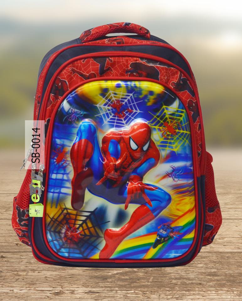 Spider Man School Bag For Kids - Multicolor