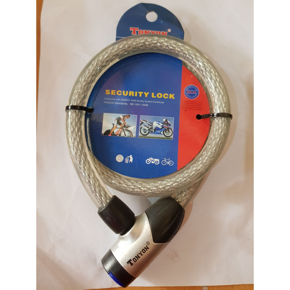 Motorcycle Bike Wire Lock Heavy Duty for Safety wirelock steel wire inside