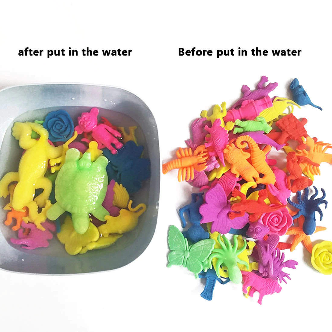 Pack of 50 Fashion Water Hydro-gel Growing Animals
