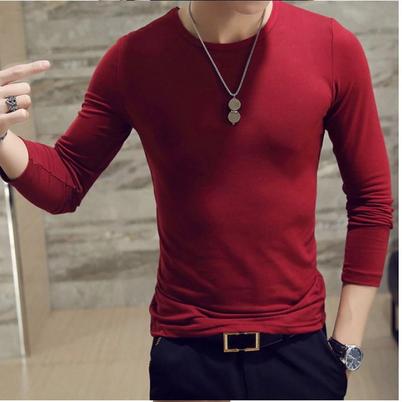 Sleeves Black Maroon Gray T Shirts for Men 5.jpg