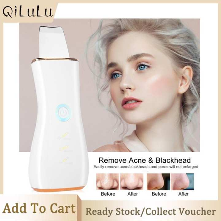 Ultrasonic Ion Skin Scrubber Deep Cleansing Face Skin Cleaner Blackhead Acne Removal
