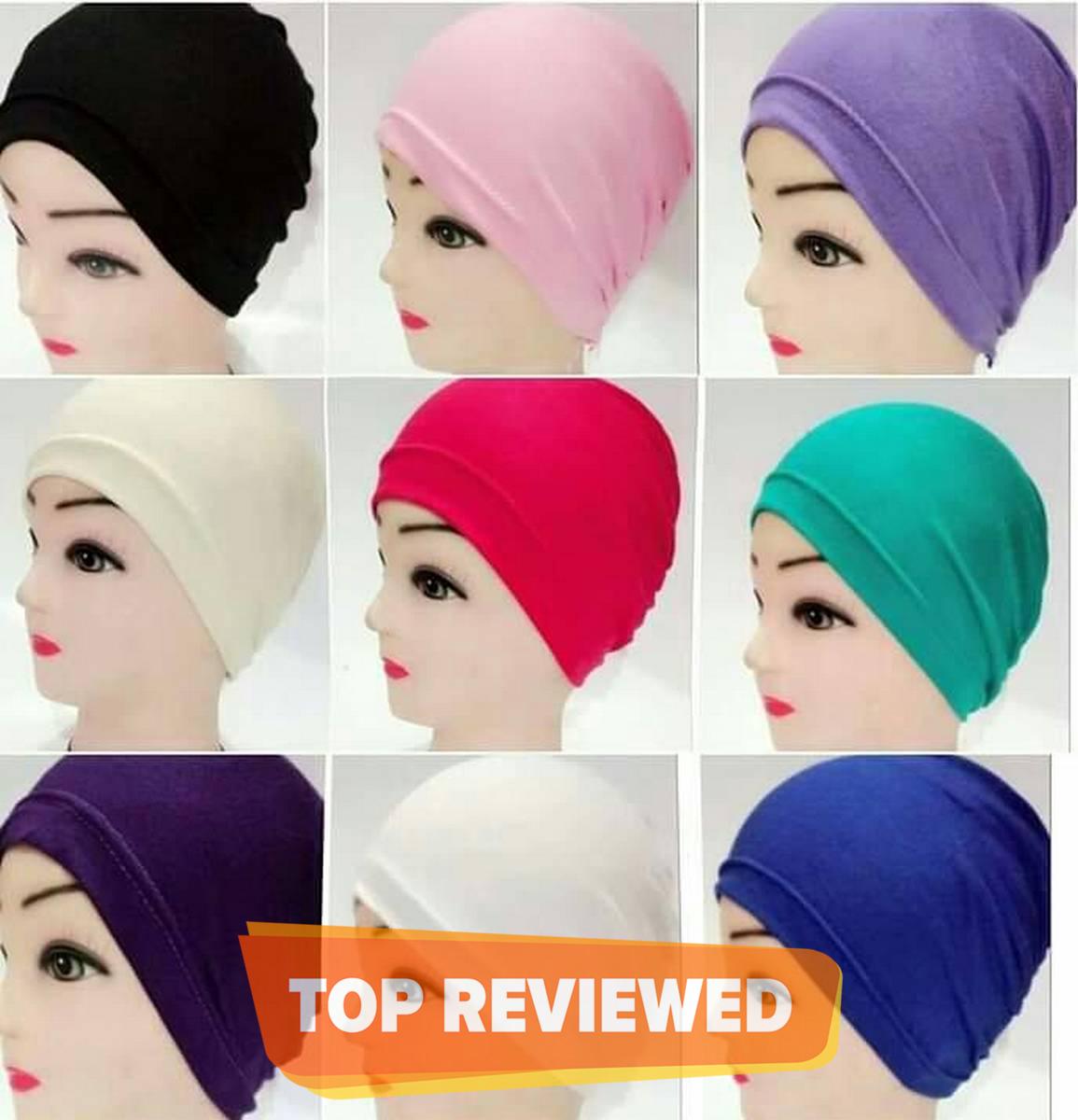 Pack of 6 Muslim Women Plain Hat Islamic Inner Caps Head wear Under scarf Hijab