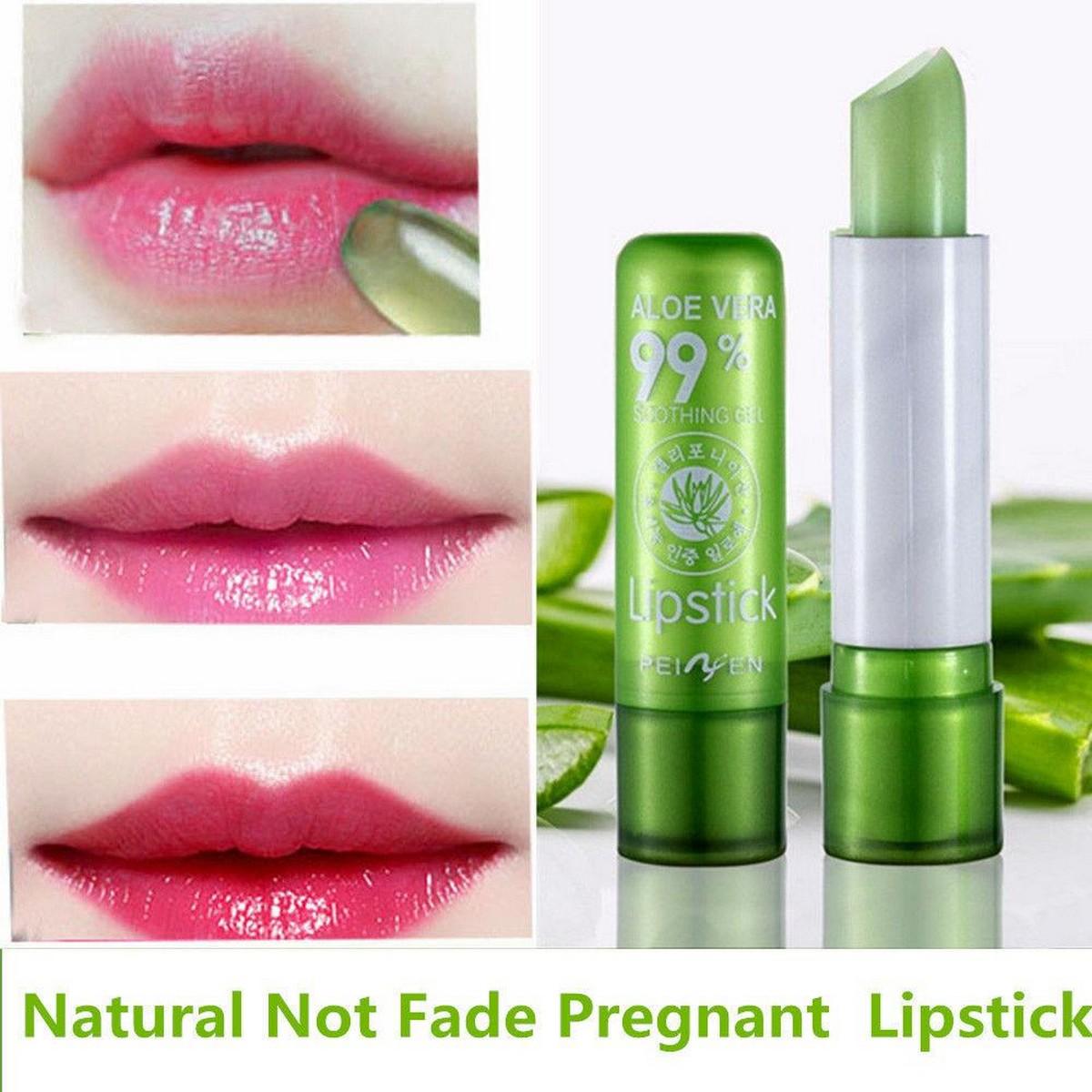 Aloe Vera Lipstick Color Mood Changing Long Lasting Moisturizing Lip Stick