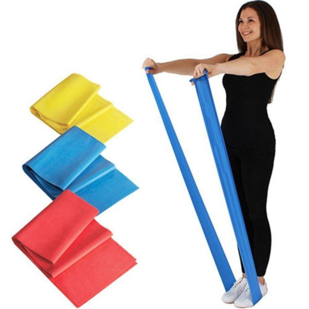 Latex Elastic Rubber Resistance Bands for Upper & Lower Body & Core Exercise at-Home Workouts, and Rehab