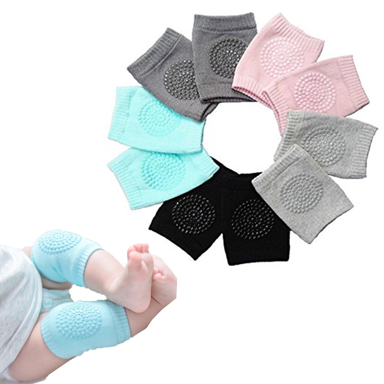 Baby Crawling Pads Anti Slip Elbow Pad Unisex Baby Knee Protectors Toddler Leg Warmer Safety Walking Knee pads Kit For Kids-Adjustable