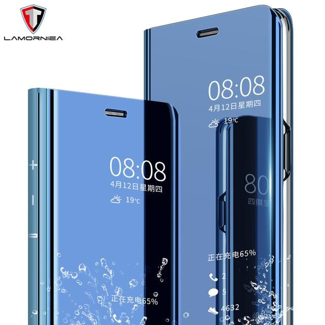 sports shoes 40410 e7f5f Luxury Mirror Smart Clear View Flip Case Stand Cover For Samsung Galaxy  Note 8