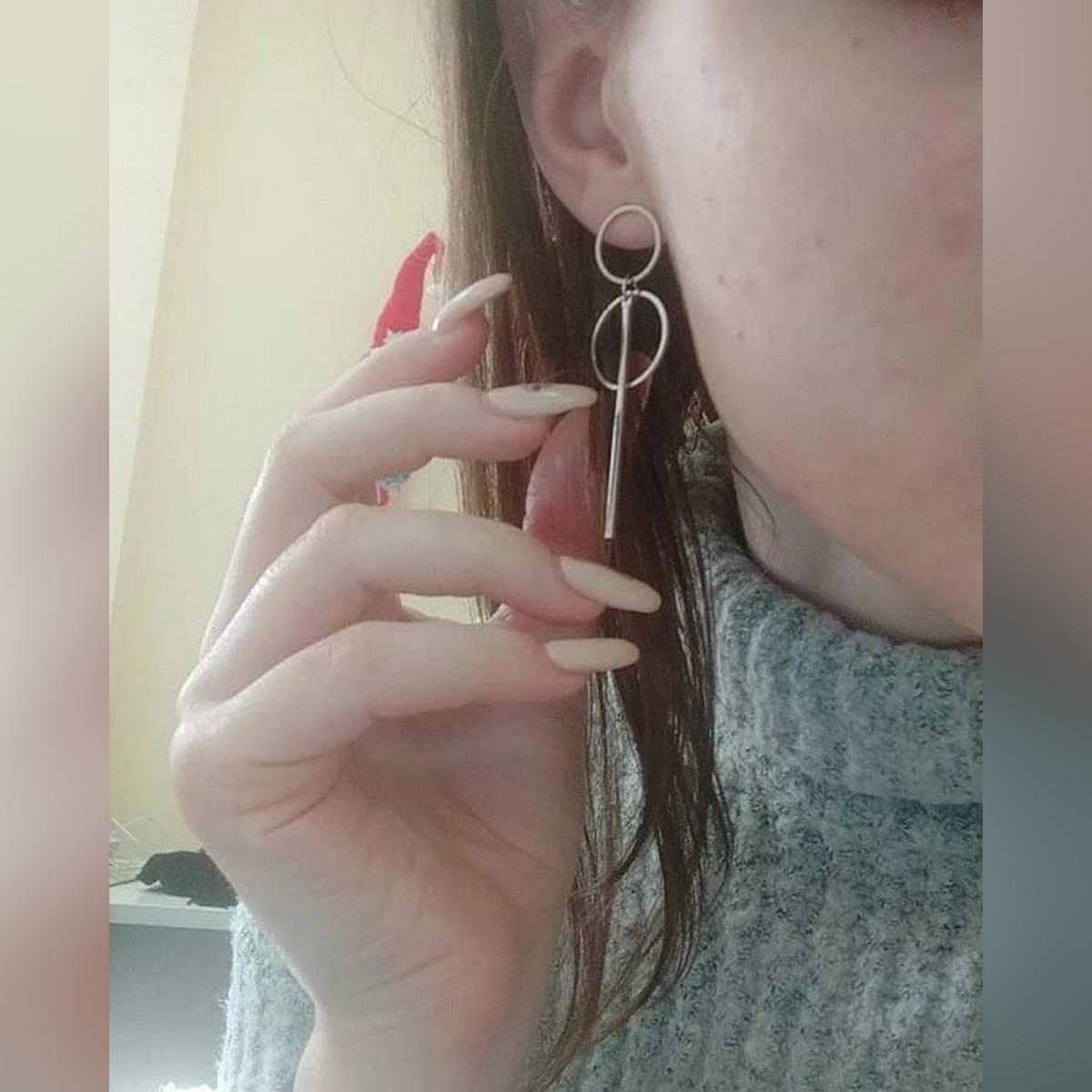 Korean Style Acrylic Drop Earrings - Stylish earrings for girls 2021- Beautiful Earings for Girls 2021 - Trendy Earings 2021 - Long Imported Fashion Jewellery