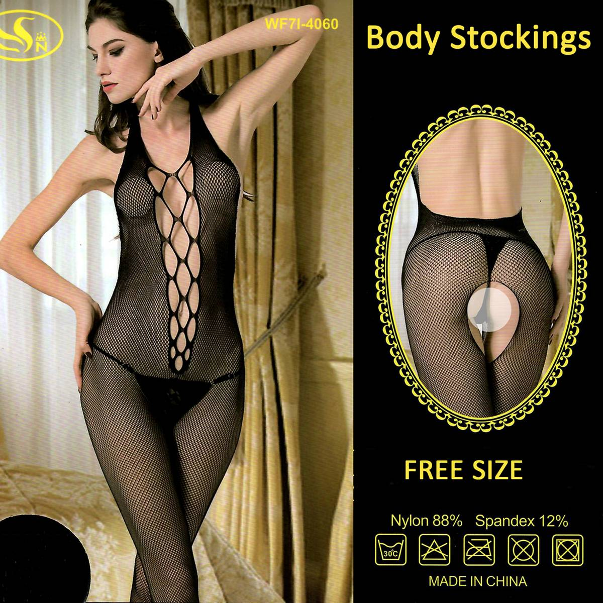 Hot Style Women Sexy Dress for Night Wear and Parties Full Black Body Stocking Nighty for Women Free Size Fits M-L-XL