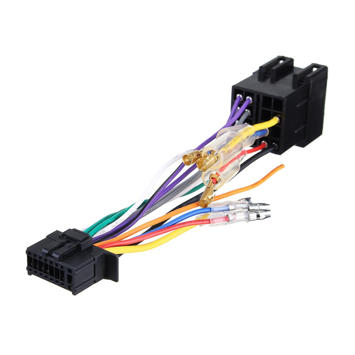 FOR Pioneer 16 Pin ISO Wiring Harness Connector Adaptor Car Stereo on