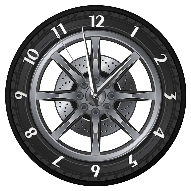 Car Service Repair Garage Owner Tire Wheel Custom Car Auto Wall Clock Watch Buy Online At Best Prices In Pakistan Daraz Pk