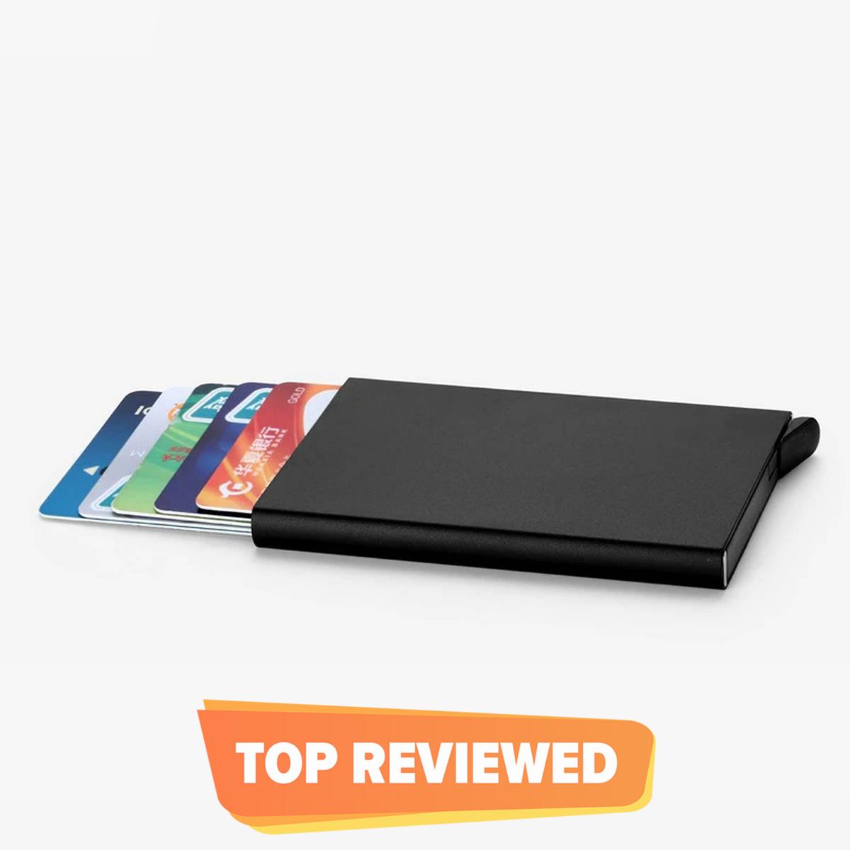Metal Card holder Slim Wallet For Men  Pop up Card holder