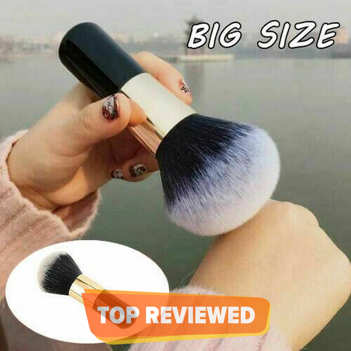 NEW!!! Professional Big Size Soft Makeup Brushes Beauty Powder Face Blush Brush Large Foundation Cosmetics Tools