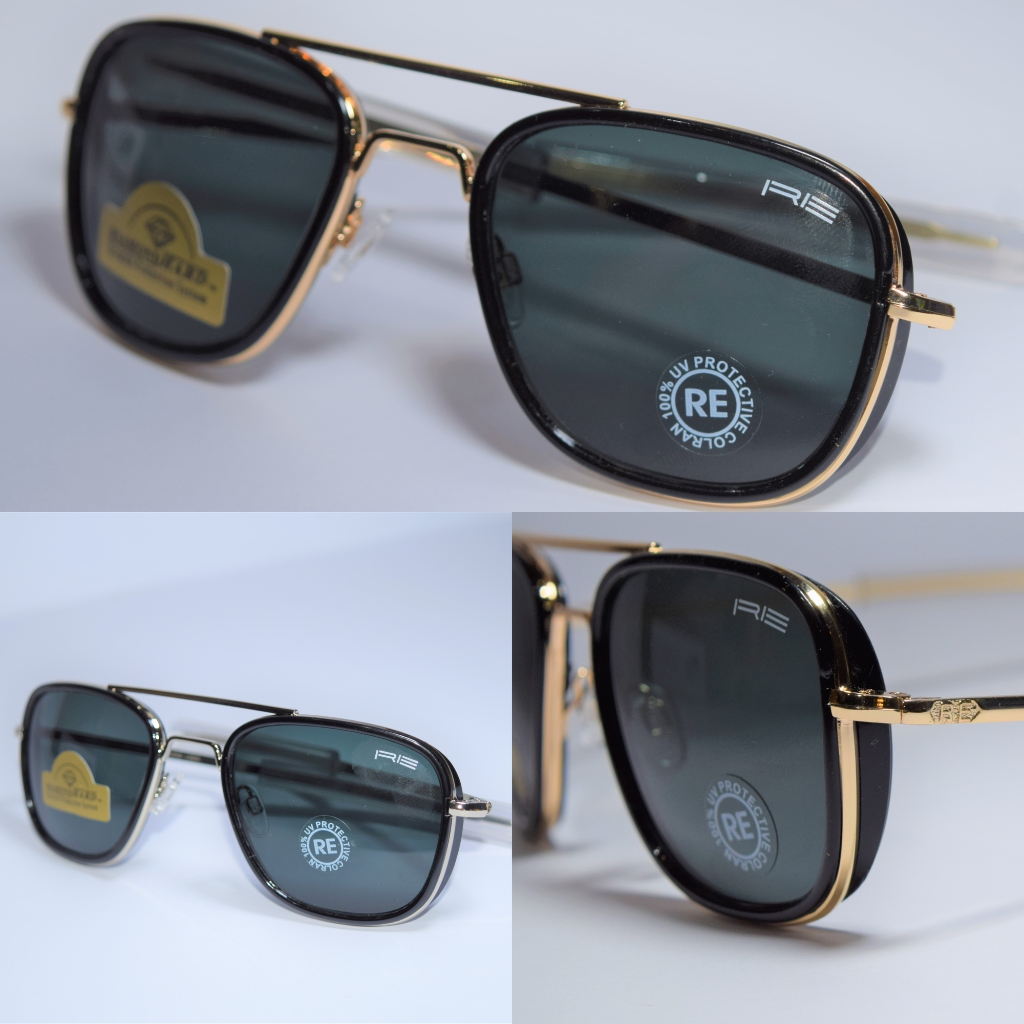 Aviator sunglasses Green And Black Lens in Black, Silver, Golden and grey Frame Available / Men Sunglasses / Aviator sunglasses A+ category.