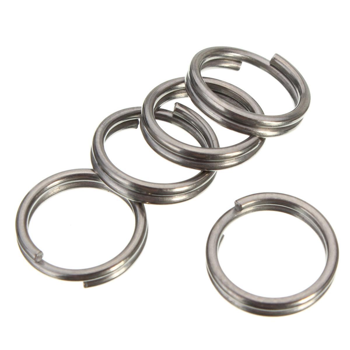 2c3396ebda Cacao 10mm EDC Gear Titanium Ti Key Chain Key Ring Split Ring 4-12 ...
