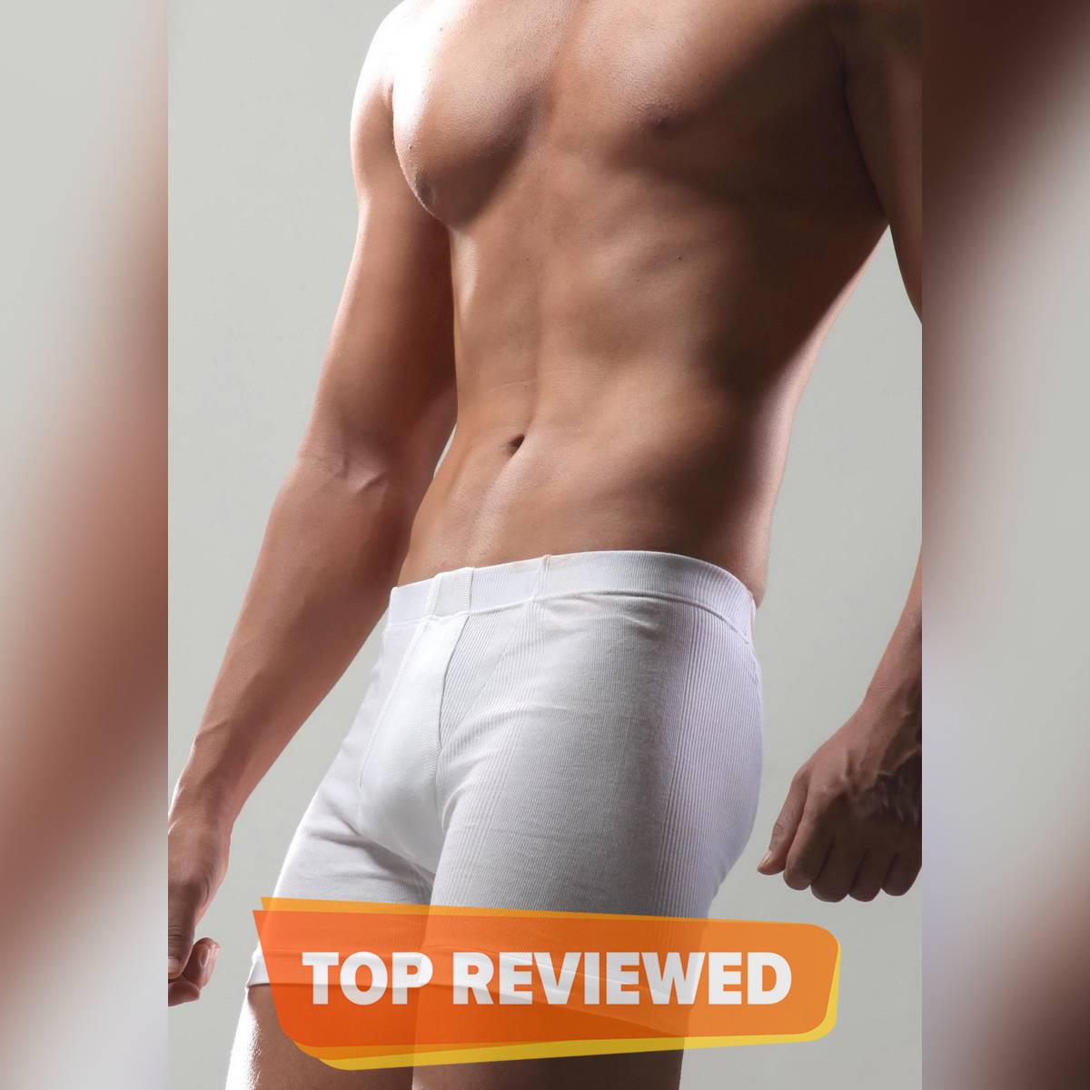 BigBen® White Fine Rib Trunk ( Inside Elastic ) for Men