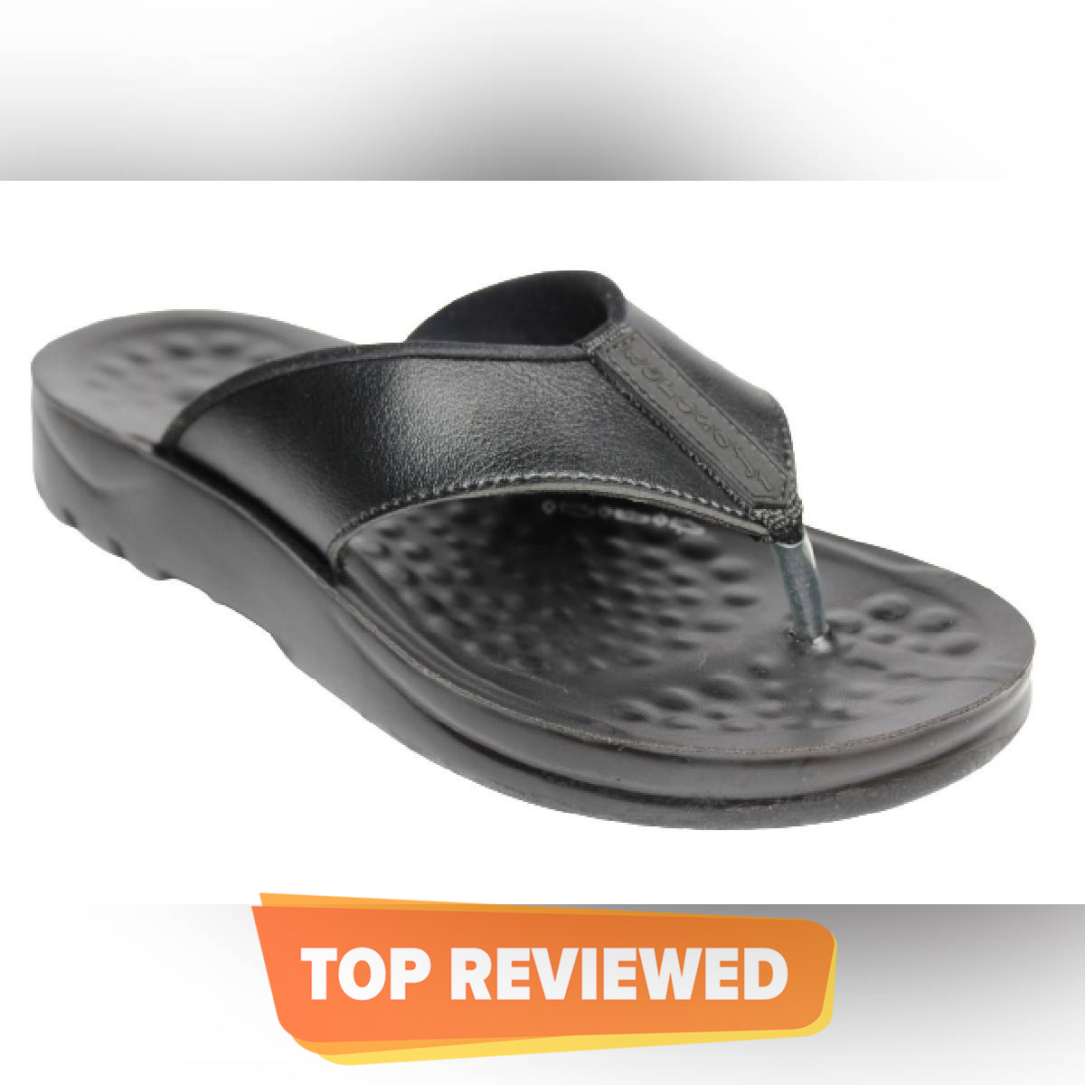 Aerosoft Black Synthetic Leather Slippers For Men A5101