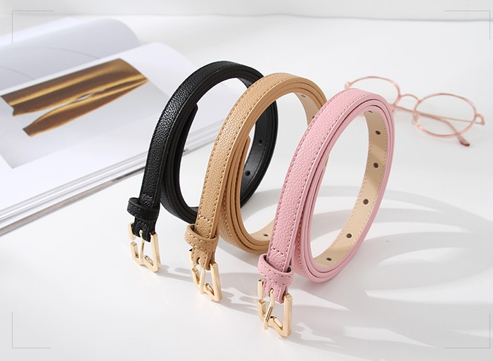 Women Leather Reversible Belt for Jeans Dress Pants Casual Ladies Belt for Girls with Solid Buckle