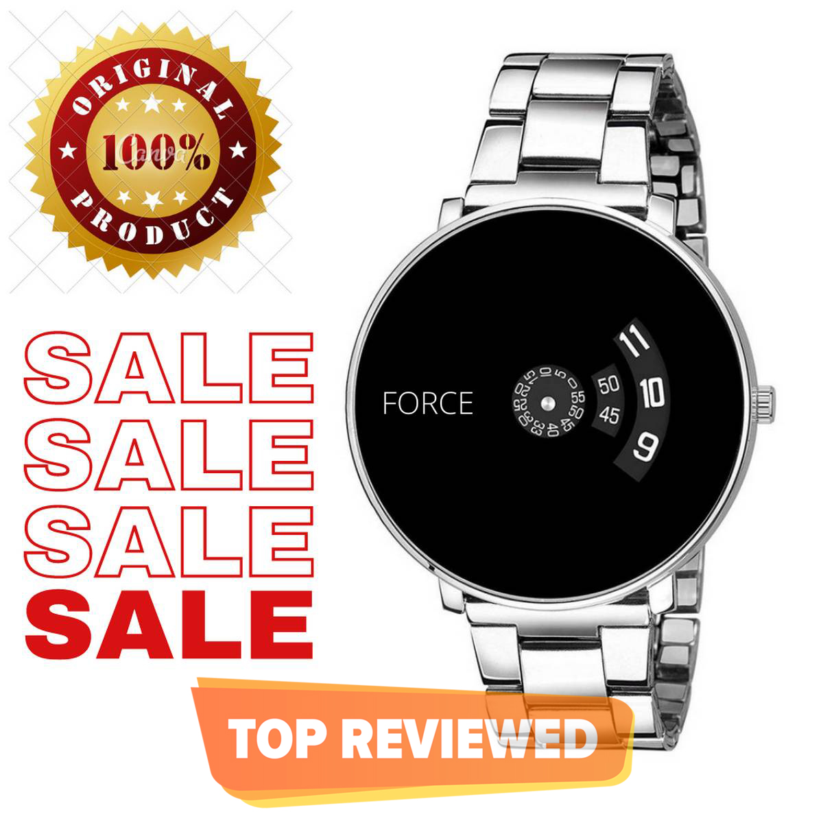 Branded watch for men and boys in silver chain new design 2021