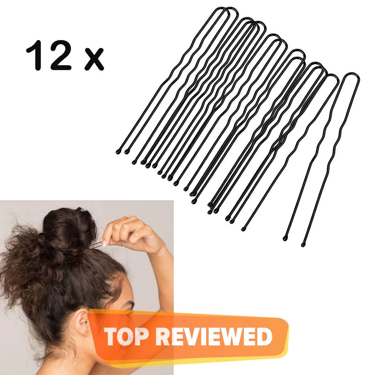 Large U Shape Pins Jura Pins, Bridal U Pins hair & Bun Pins for Kids/Girls/Women. (12 Pieces)
