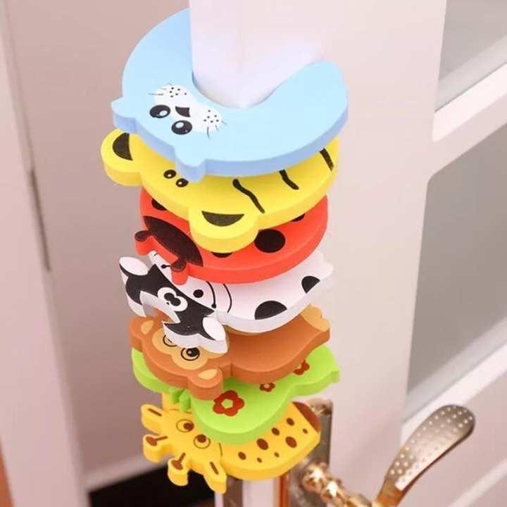 Kids Baby Cartoon Animal Jammers Stop Edge Corner Guards Door Stopper Holder lock baby Safety Finger Protector Cute