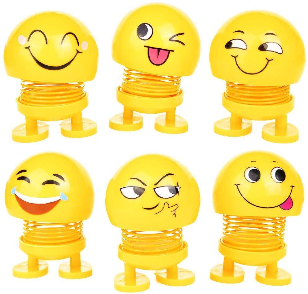 Dancing Spring Emoji Shaking Head Dolls