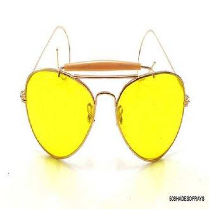 Yellow Vintage Glasses For Him