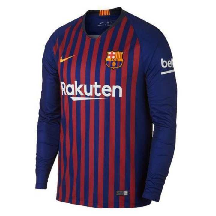 BARCELONALONG SLEEVE HOME SHIRT 2018/19 (ADULTS)