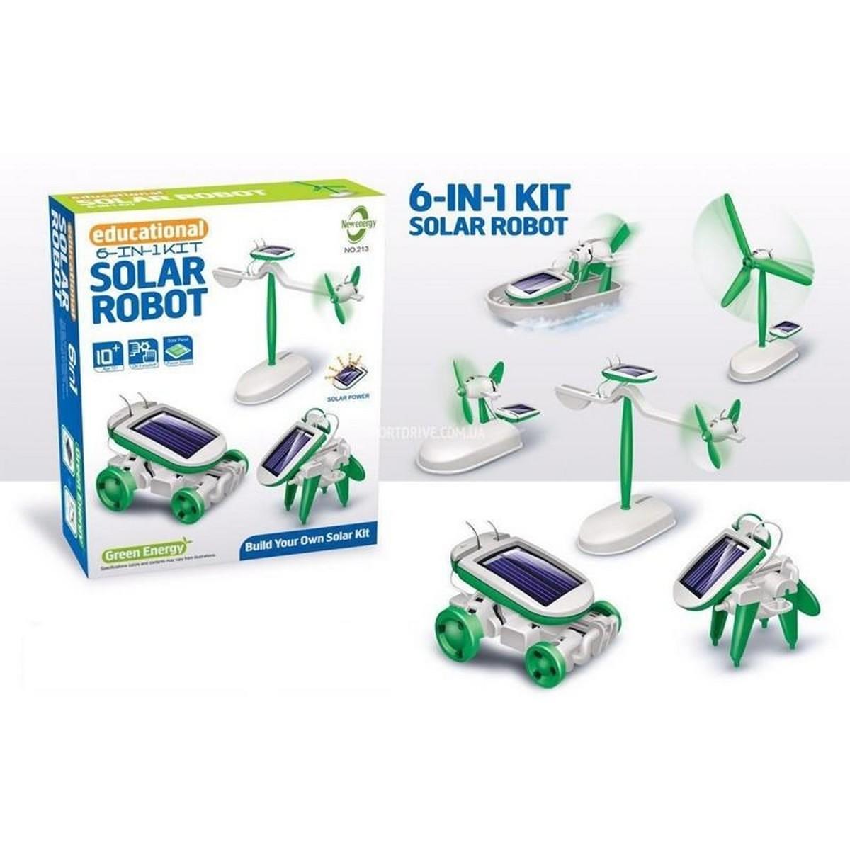 Educational 6 in 1 Solar Robot Kit (Solar Revolving Plane, Solar Windmill, Solar Plane, Solar Airboat, Solar Puppy, Solar Car)