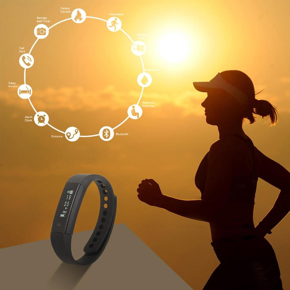 OEM Fitness Tracker, Smart Bracelet Activity Tracker With Bluetooth Smart  Remote Self-Timer Calorie Counter Band Sleep Smart Watch Monitor For  Android