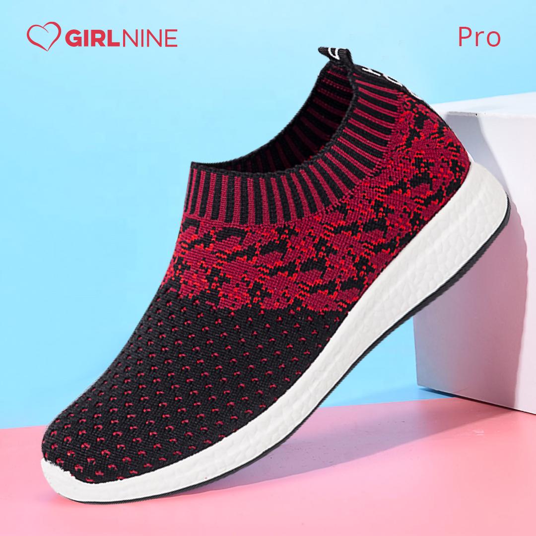 Girl Nine Plush/PVC Pro Retro Sneaker for Women