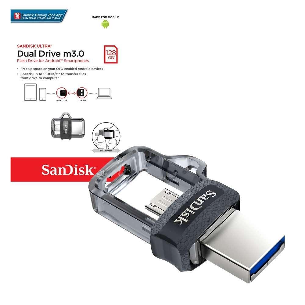 Product details of SanDisk Ultra Dual Drive m3.0 OTG & Flash Drive micro-USB -64gb