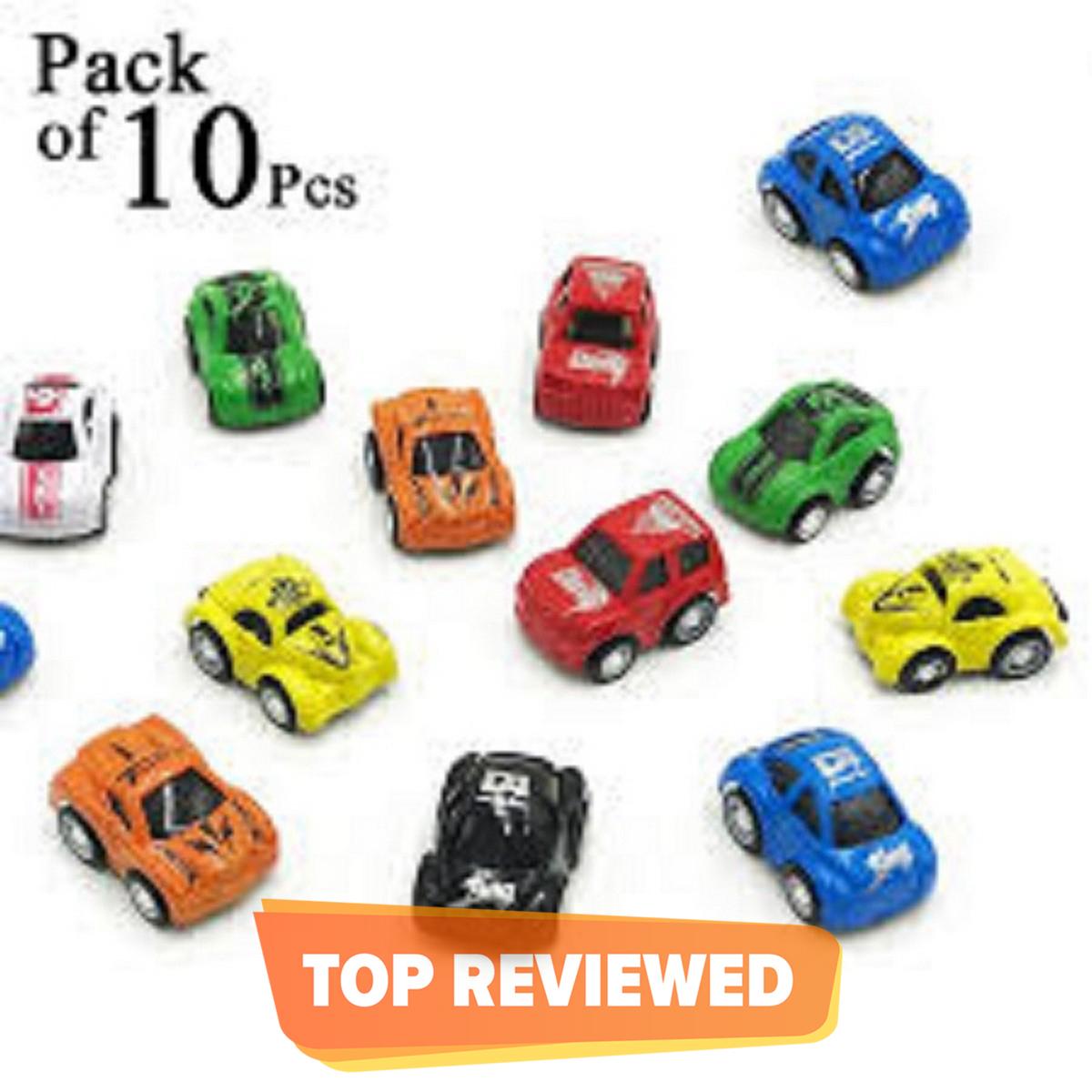 Pack of 10 - Pull Back Mini Auto Super Power Car Set For Kids & Boys Toys