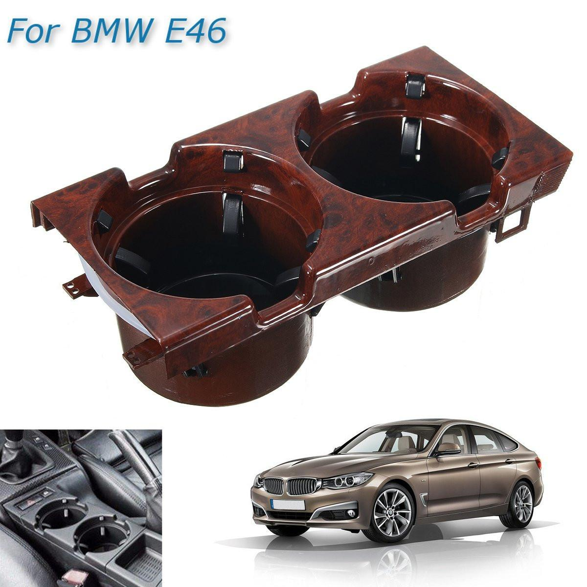 Product details of Wooden Grain Front Center Drink Cup Holder For BMW 3 Series E46 1998-2006 # 51168217953