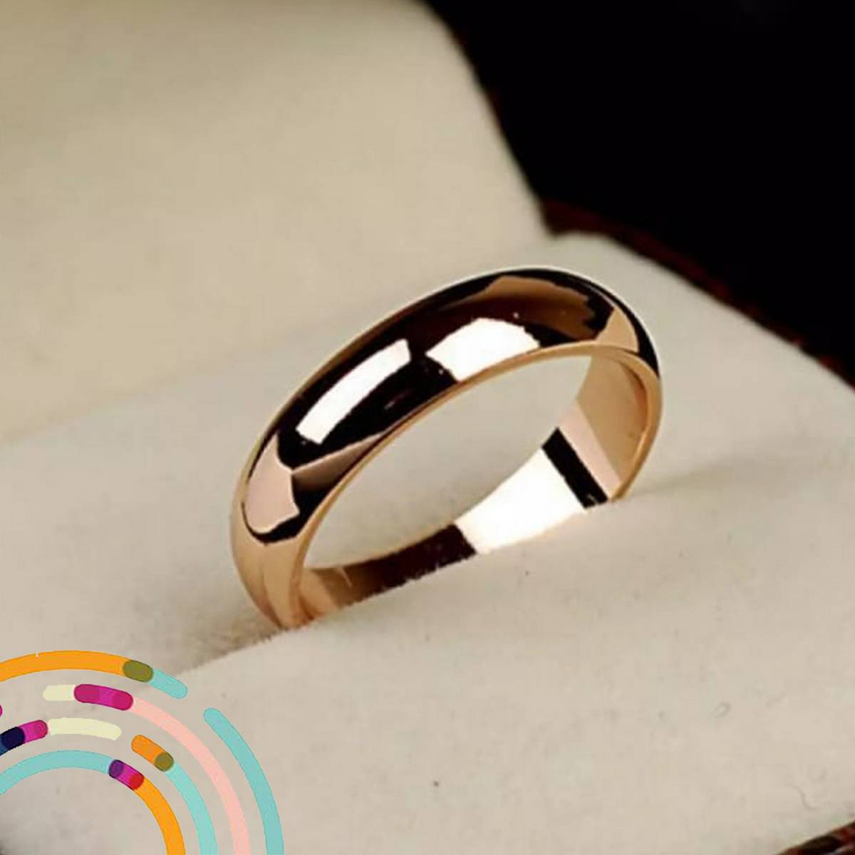 Trendy Gold Plated Simple Ring For Girls & Women