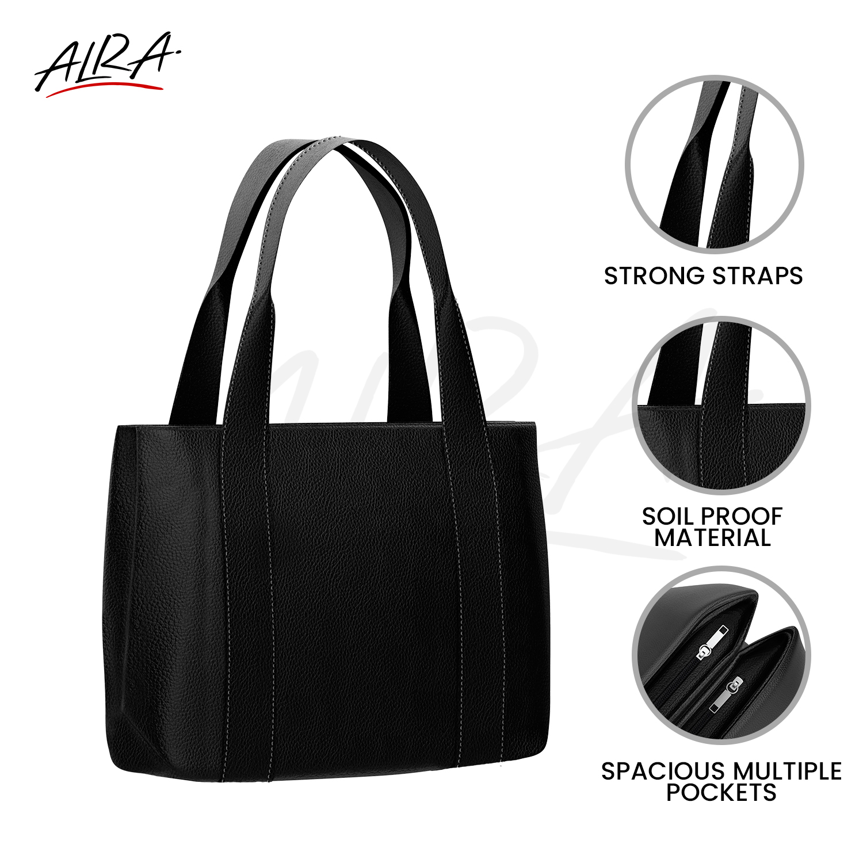 Alra Variety English Look Article Black Handbags FT-003