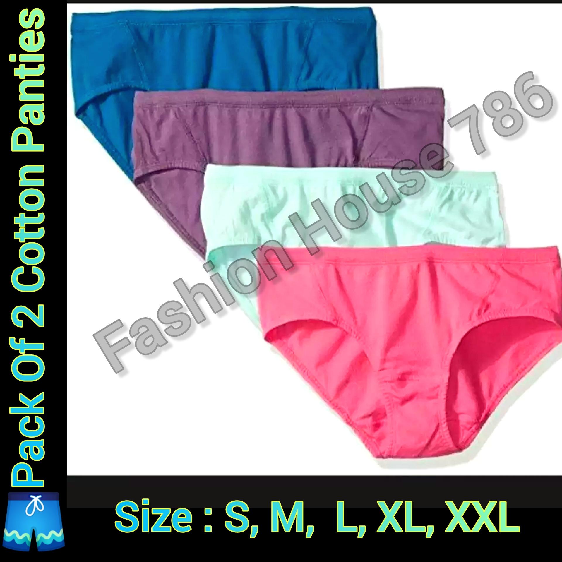 Pack of 2 - Cotton Underwear for Women / Cotton Panties For Women / Ladies Girls Cotton Underwears / Jersey Underwears for girls