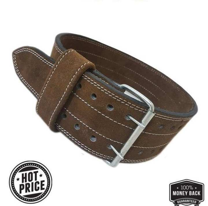 Weight Lifting leather Power gym Brown Gym Belt Fitness