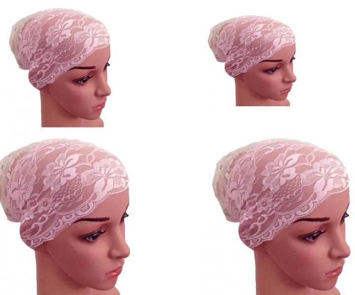 Pack Of Four Net Cap For Hijab