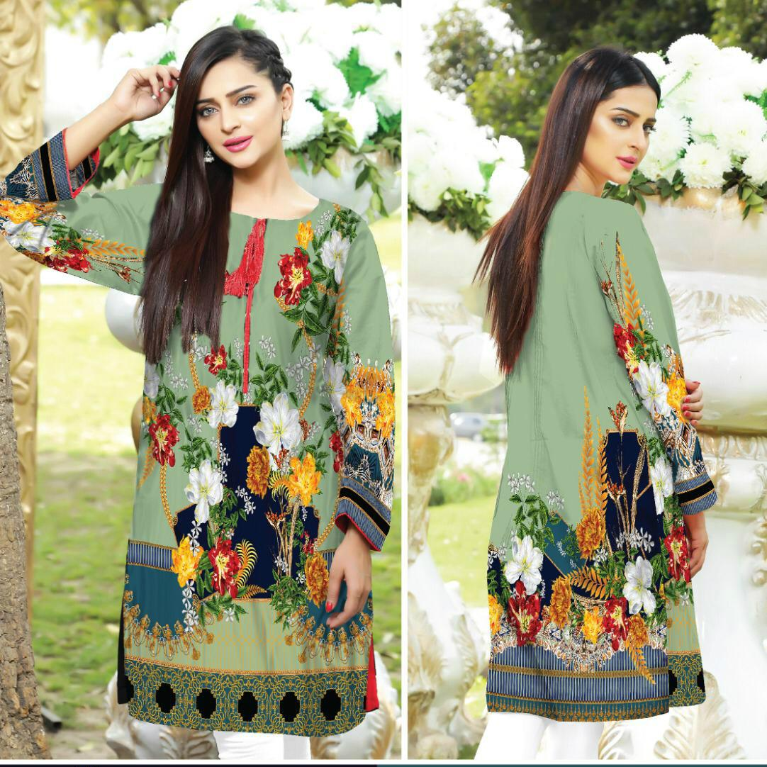 41fcb9ce0d Safwa Digital Cotton Print Kurti Collection - Shirt Kurti Kameez