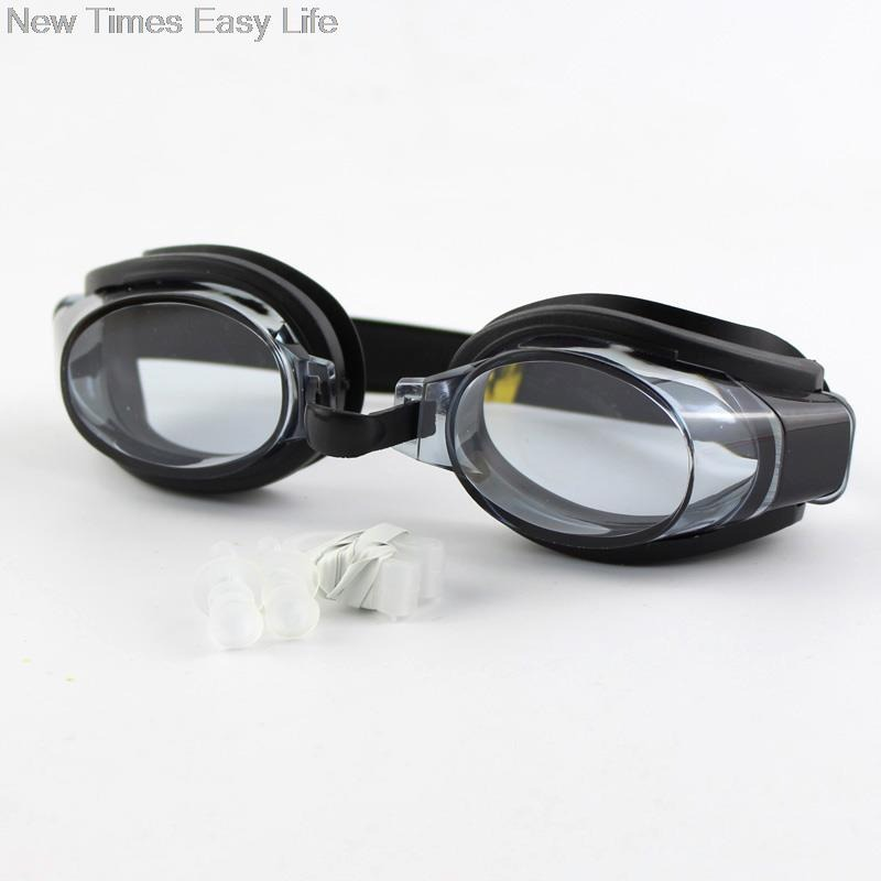 New 3 in 1  Adjustable High Quality Slip-Resistant Silicon Swimming Goggles + 1 Nose Clip + 2 Ear Plugs